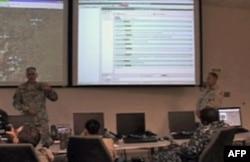 联合部队司令部内的军事会议
