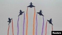 中國空軍戰機演習。(資料照片)