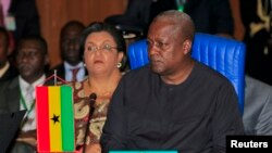 Ghana's President John Dramani Mahama attends the 43rd ECOWAS meeting in Abuja.
