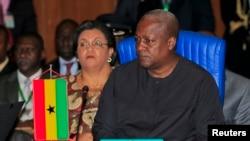Shugaban Ghana a lokacin da yake ziyartar ganawa ta 43 na ECOWAS a birnin Abuja dake Najeriya.