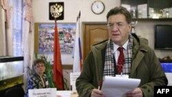 Председатель ПАСЕ Петрос Эфтимиу на избирательном участке в Москве
