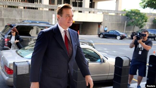 El exdirector de la campaña de Trump, Paul Manafort, llega al Tribunal del Distrito de EE. UU., en Washington, D.C. el 15 de junio de 2018.