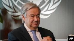 ကုလသမဂၢ အတြင္းေရးမွဴးခ်ဳပ္ Antonio Guterres. (ေအာက္တိုဘာ ၂၁၊ ၂၀၂၀)