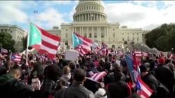 2017-11-20 美國之音視頻新聞: 數千示威者要求國會增加波多黎各救災援助 (粵語)