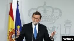 Perdana Menteri Spanyol Mariano Rajoy di Istana Moncloa, Madrid, 22 Desember 2017. (Foto: dok).