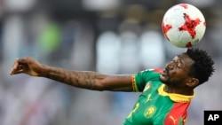Frank Zambo Anguissa lors d'un match de Coupe des confédérations entre le Cameroun et l'Allemagne, Russie le 25 juin 2017.