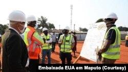 Lançamento da primeira pedra para a construção do Hospital Matola Santos, Maputo, Moçambique. 27 agosto 2020
