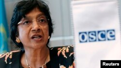 FILE - U.N. High Commissioner for Human Rights, Navi Pillay.