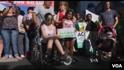 Protesters in Argentina push for legalization of medical marijuana.