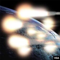 Potongan-potongan satelit UARS diperkirakan terbakar dan pecah menjadi 26 bagian saat memasuki atmosfir bumi (foto ilustrasi).