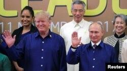 پرزیدنت ترامپ و ولادیمیر پوتین، در حاشیه نشست سازمان همکاریهای آسیا و اقیانوسیه