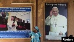 Mabango ya ujio wa Baba Mtakatifu Francis mjini Bamako, Mali.