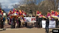 3月10日下午,藏人在白宫前请愿