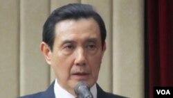 台湾总统马英九(美国之音 张佩芝摄)