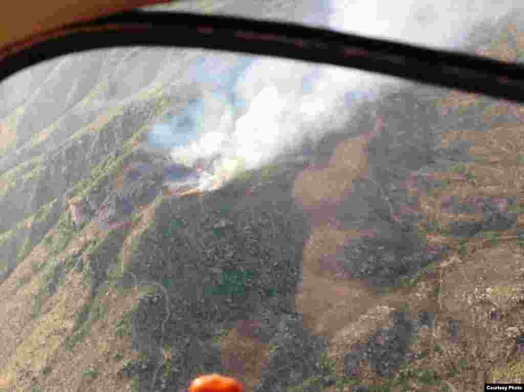 An aerial view of the Yarnell Hill Fire, near the town of Yarnell, Arizona, June 30, 2013. (Arizona State Forestry Division)