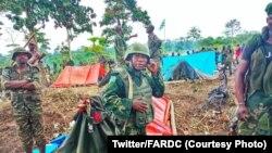 Mampinga ya ekolo Congo démocratique FARDC na Kididiwe, Beni, Nord-Kivu, 12 novembre 2019. (Twitter/FARDC)