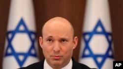 Perdana Menteri Israel Naftali Bennett di Yerusalem, 1 Agustus 2021. (Abir Sultan/Pool Photo via AP)