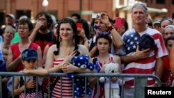 A public reading the U.S. Declaration of Independence in Boston, Massachusetts July 4, 2013.