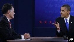 美國總統奧巴馬和他的共和黨挑戰者羅姆尼舉行外交政策辯論