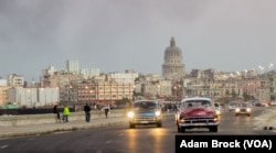 Classic American cars from before the revolution are a common sight on the streets of Havana.
