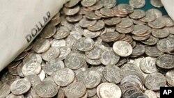 미국의 아이젠하워 1달러 동전.