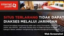 Halaman depan situs suarapapua.com.
