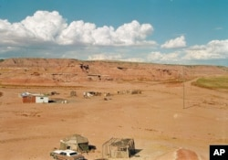 FILE - A remote corner of the Navajo Nation, near Tuba City, Ariz., Aug. 30, 1993. The vastness of rural reservations makes them an ideal location for manufacturing and selling meth, far from the eyes of tribal law enforcement.
