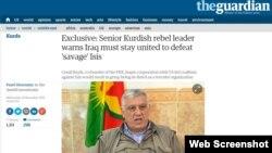 مصاحبه اختصاصی روزنامه گاردین با جمیل بایک، از اعضای مؤسس حزب کارگران کردستان