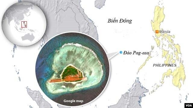 Bản đồ đảo Pag-asa.