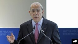 Secretary-General of the OECD Angel Gurria, May 22, 2012 (AP).