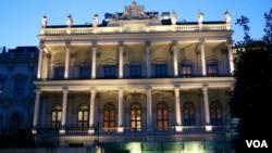6일 주요 6개국과 이란 간의 핵 협상이 이루어지고 있는 오스트리아 빈의 건물.
