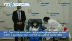 VOA60 World- Critical care nurse gets first COVID vaccination in U.S.