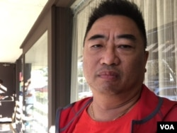 "Raymond Lee, 52, is a reluctant Hillary Clinton supporter and considers Donald Trump a ""demagogue,"" but worries that this election has made the United States a laughing stock. (M. O'Sullivan/VOA)"