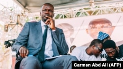 Ousmane Sonko lors d'un débat présidentiel, le 21 février 2019.