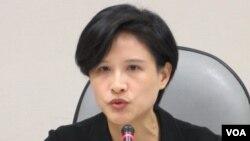 民进党立委 郑丽君(美国之音张永泰拍摄)