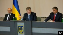 Арсений Яценюк, Петр Порошенко и Арсен Аваков