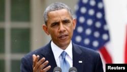 16일 백악관에서 열린 기자회견에서 연설 중인 바락 오바마 미국 대통령.