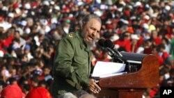 2006年5月1日,卡斯特罗在哈瓦那发表五一节讲话