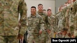 Фото для ілюстрації. Військові Національної гвардії Оклахоми повертаються додому після служби в Спільній міжнародній навчальній групі в Україні, 2017