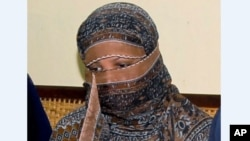 Asia Bibi, acquittée après avoir été condamnée à mort au Pakistan pour blasphème.