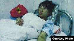 冯建梅强制引产后在医院里