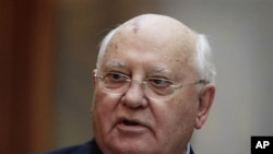 Former Soviet leader Mikhail Gorbachev (file photo)