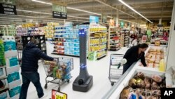 2019年1月15日美国消费者在宾夕法尼亚州的一家超市购物。