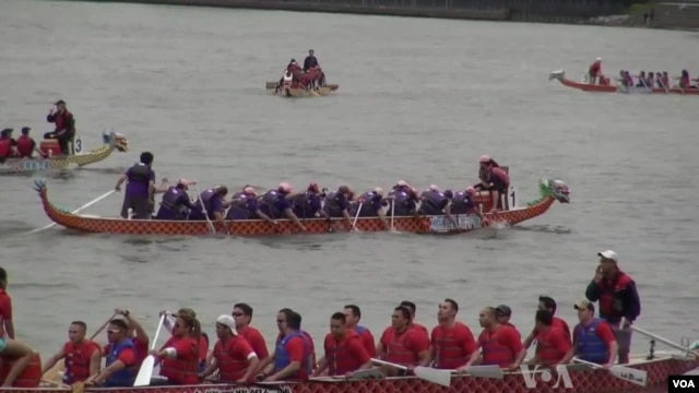 In addition to weekly practices, Go Pink! DC races against other breast cancer survivor teams in dragon boat festivals.