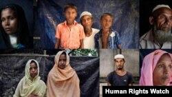 ရခုိင္ျပည္နယ္ Tula Toli အစုလိုက္အၿပံဳလုိက္ သတ္ျဖတ္ခံရမႈကေန အသက္ရွင္ လြတ္ေျမာက္လာသူမ်ား။ ဓာတ္ပံု - Human Rights Watch