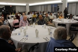Muslims around the world are observing the holy month Ramadan, which includes fasting from sunrise to sunset. At the Bait-ur-Rehman Mosque in Silver Spring, Maryland, about 200 people gathered for an after-sunset iftar dinner. (Courtesy - Bait-ur-Rehman Mosque)