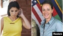 Jill Kelley (kiri) dan pacar Jenderal David Petraeus, Paula Broadwell (foto: dok). Jenderal AS di Afghanistan, John Allen diselidiki atas komunikasi yang tidak pantas melalui email dengan Jill Kelley.