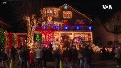 布魯克林聖誕村燈飾在疫情肆虐中亮起