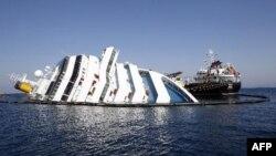 Con tàu Costa Concordia bị lâm nạn gần đảo Giglio của Italia