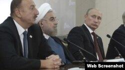 İlham Əliyev, Həsən Ruhani, Vladimir Putin